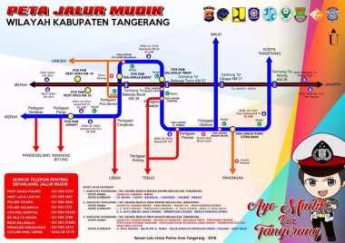 Ini Jalur Mudik yang Dapat Dilintasi di Tangerang