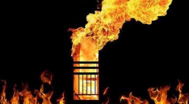 Gas Bocor, Bengkel Knalpot Ludes Terbakar