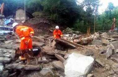 Longsor di China, Sedikitnya 20 Orang Hilang
