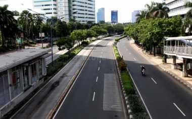 H-4 Lebaran, Ruas Jalan di Jakarta Lengang