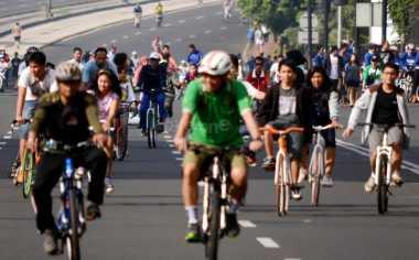 Pasca-Lebaran, Car Free Day Jakarta Kembali Ramai