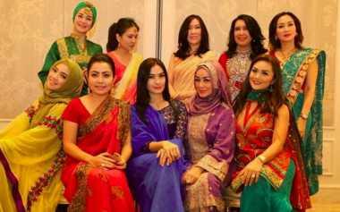 FOTO: Kenakan Kain Sari saat Arisan, KD dan Mayangsari Mirip Wanita India