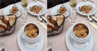 FOTO: Di Paris Jessica Iskandar Kepincut French Onion Soup
