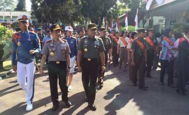 Kompak, Kapolri dan Panglima TNI Cek Persiapan Acara Praspas