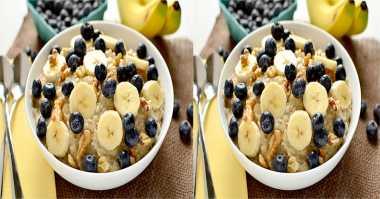Resep Sarapan Sehat: Oatmeal Banana Berry