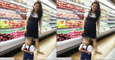FOTO: Bikin Gemes, Lucunya Anak Ruben Onsu Belanja Apel