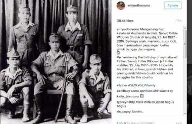 Lewat Foto Ini, Ani Yudhoyono Kenalan dengan Cucu Pejuang Teman Ayahnya