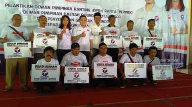 Partai Perindo Bagikan 5.000 Gerobak UKM di Bogor