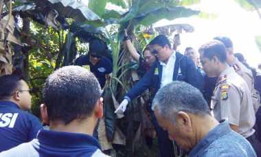 Krisna Murti Pantau TKP Penemuan Mayat Terbakar di Serpong