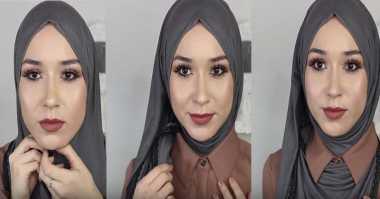 Simak Tutorial Hijab saat Pakai Kemeja Berkerah