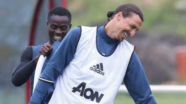 Zlatan Ibrahimovic Latihan Perdana Bareng Manchester United