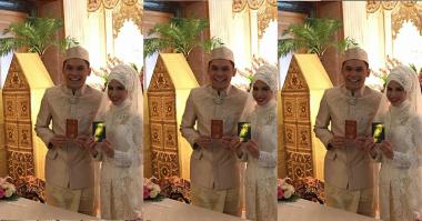 Penampilan Menawan Ben Kasyafani dan Ines saat Akad Nikah