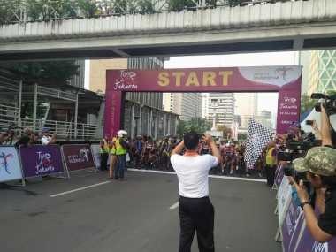 Kesenian Betawi Ramaikan Pembukaan Tour de Jakarta 2016