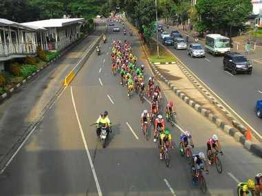 Peserta Tour de Jakarta Bangga dengan Jalanan di Jakarta