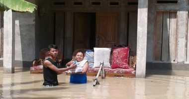 Sungai Kawunganten Meluap, Ratusan Keluarga di Dua Kecamatan Terendam Banjir