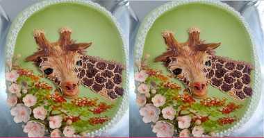 FOTO: Aihhh... Lucunya Kue Ulang Tahun Motif Jerapah Ini