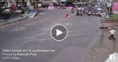 HOT THREAD (5): Video Detik-Detik Seorang Satpam Bunuh Diri Di Perlintasan Kereta Api