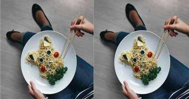 FOTO: Menggugah Selera, Spaghetti Ini Dibentuk Pikachu