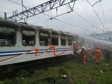 Gerbong Kerata Kertajaya Terbakar Akan Diberangkatkan ke Surabaya