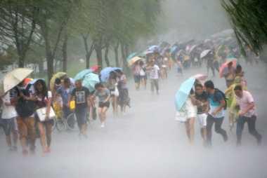 Badai Terjang Bengkulu, Lima Tiang Listrik Roboh