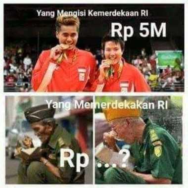 Dapat Bonus Miliaran Rupiah, Beredar Meme Owi-Butet dengan Nasib Veteran