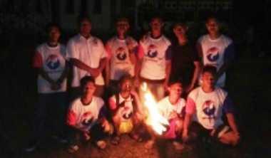 Main Bola Api, Pemuda Perindo Ramaikan Festival Budaya Marunting Batu Aji