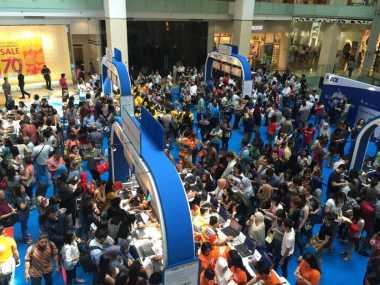 Ratusan Pengunjung Padati Travel Fair di Mal Ini