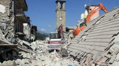 Dua Gempa Susulan 4,7 SR Tutup Akses Utama ke Amatrice