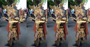 Model Jember Fashion Carnaval Berlatih Make-Up Karakter Selama 3 Bulan
