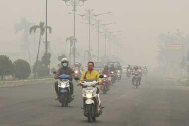 Kabut Asap Semakin Pekat, Jarak Pandang di Riau Hanya 1 Km