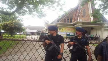 Pasca-Percobaan Pengeboman, Polisi Perketat Penjagaan Gereja di Medan