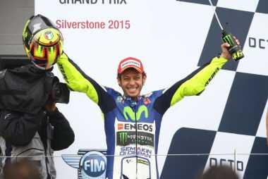 Enam Kali Menang, Valentino Rossi Rider Paling Sukses di GP Inggris