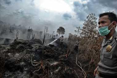 Lahan yang Terbakar di Samosir Sudah Padam