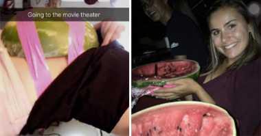 UNIK: Gokil, Penonton Selundupkan Semangka Utuh untuk Camilan di Bioskop
