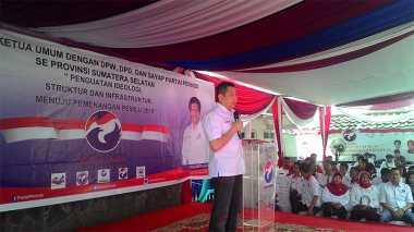 Hary Tanoe Temui Kader Perindo Se-Sumatera Selatan