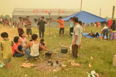 1.500 Pengungsi Korban Kabut Asap di Riau Kembali ke Rumah