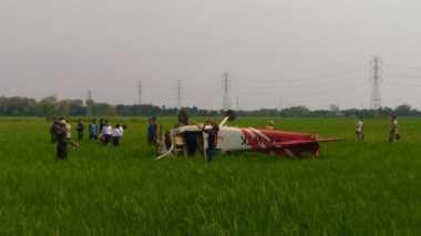 Pesawat Jatuh di Cirebon Diawaki Dua Orang