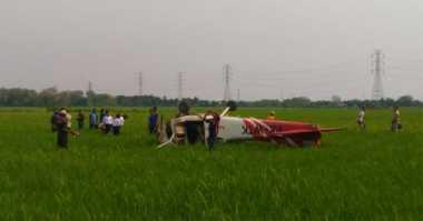 Pesawat Latih Jatuh di Cirebon, Saksi: Awalnya Oleng, Terbang Pendek Lalu Jatuh