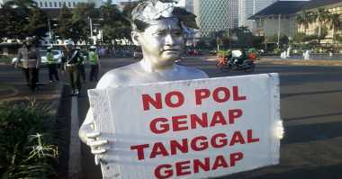 348 Pelanggar Ditilang di Hari Pertama Penerapan Ganjil Genap