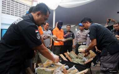 Polisi Musnahkan 9,6 Kg Sabu dan 73,5 Kg Ganja