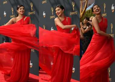 TOP FASHION 1: Wow, Priyanka Chopra Tampil Seksi di Emmy Award
