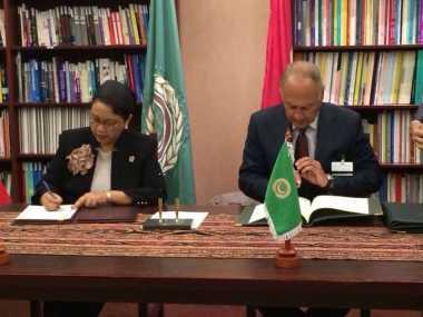 Indonesia dan Liga Arab Pererat Kerjasama dengan Penandatanganan MoC