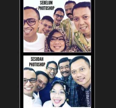 Beredar Meme Foto Selfie Cagub-Cawagub DKI 2017