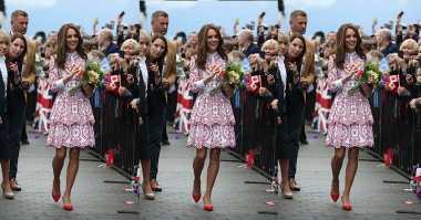 TOP FASHION 2: Tugas Negara, Kate Middleton Tampil Stylish dan Elegan