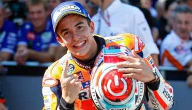 Kalahkan Lorenzo dan Rossi, Marquez: Kemenangan GP Aragon Sangat Penting