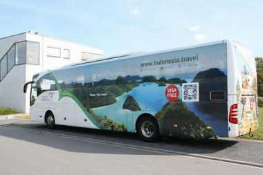 Keren! Wonderful Indonesia Ada di Bus Pariwisata Eropa