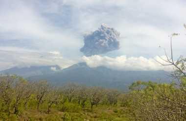Gunung Barujari Meletus, Ratusan Wisatawan Terjebak di Rinjani