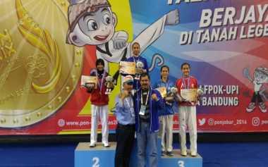 Atlet Taekwondo Unnes Sumbang Emas di PON XIX