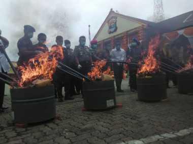 Polisi Musnahkan Narkoba Senilai Rp1,3 Triliun