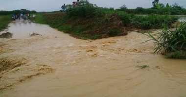 Tanggul Jebol, Tiga Desa Terancam Terendam Banjir